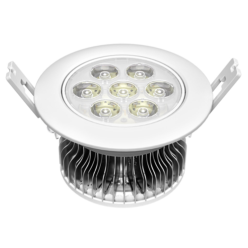 7W LED Ceiling light,Long life 7W LED fin case down light,indoor lighting bulbs,led down lights 7w